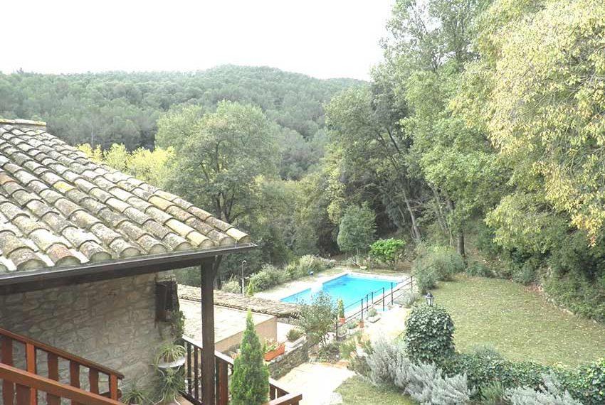 Hotel Rural Pla Estany Vista Piscina